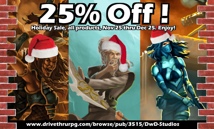 25% Off Sale on all DwD Studios products!